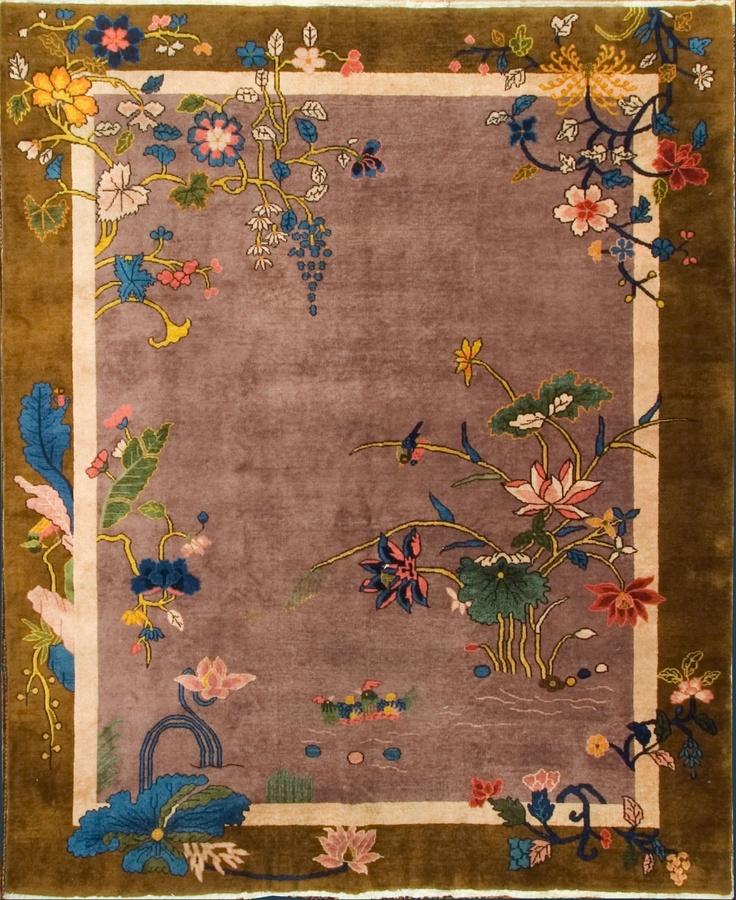 U 2275 antique art deco chinese rug 82