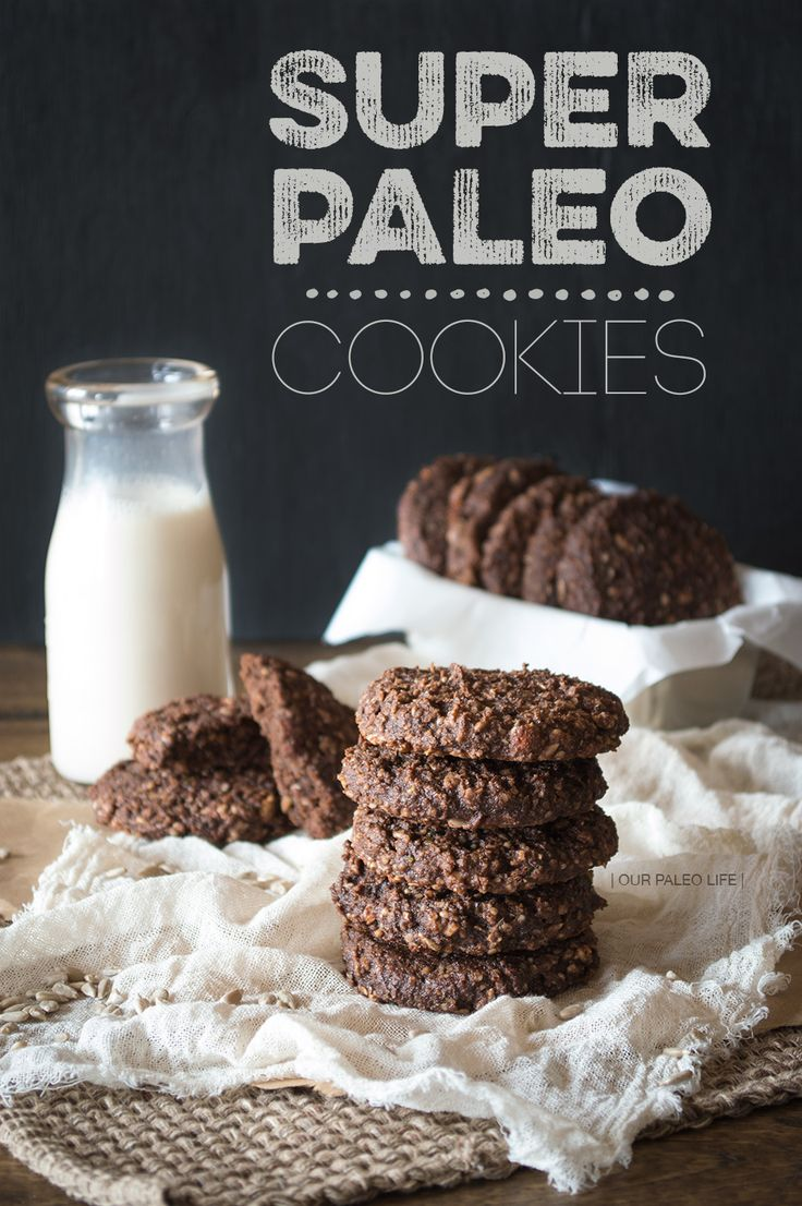 Super Paleo Cookies by Our Paleo Life - brownies with a crunch - for me sub cinnamon for cocoa powder - have hemp and chia for yummy crunch and nutrients