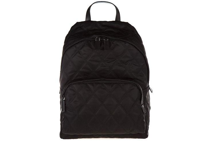 Prada men's Nylon rucksack backpack travel black