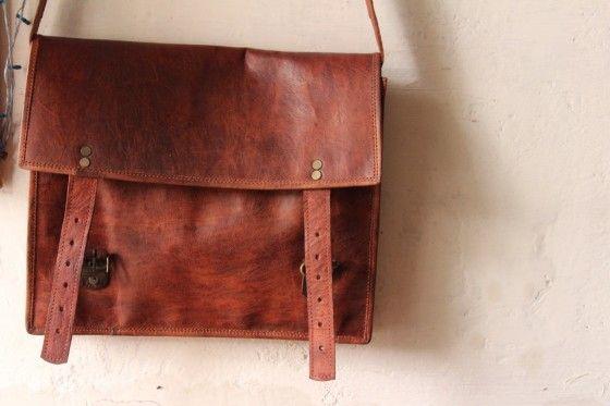 Shopo.in : Buy Leather Laptop Bag, Men Shoulder Bag. online at best price in Udaipur, India