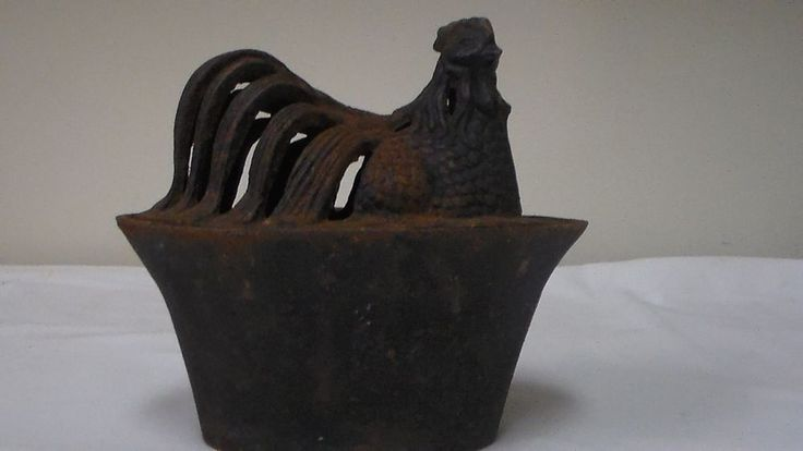 Vintage Cast Iron Hen On Nest Steamer Egg Holder Potpourri
