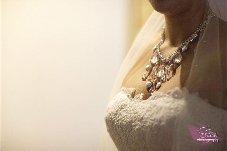 Custom Wedding Jewelry Set: Sterling silver, freshwater pearls, Swarovski crystals, + cubic zirconia.  Photography Credit: Sarani Weddings Azul Beach / Karisma / Mexico www.aebumble.com