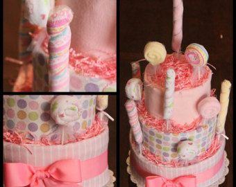 Hot air balloon diaper cake di Dapperbabycakes su Etsy