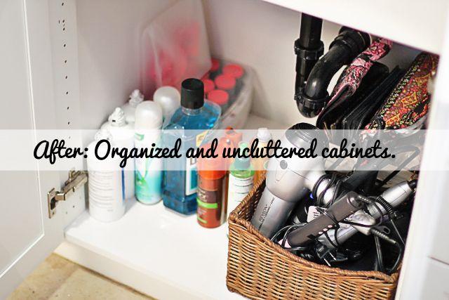 Organizing the bathroom @ lil blue boo