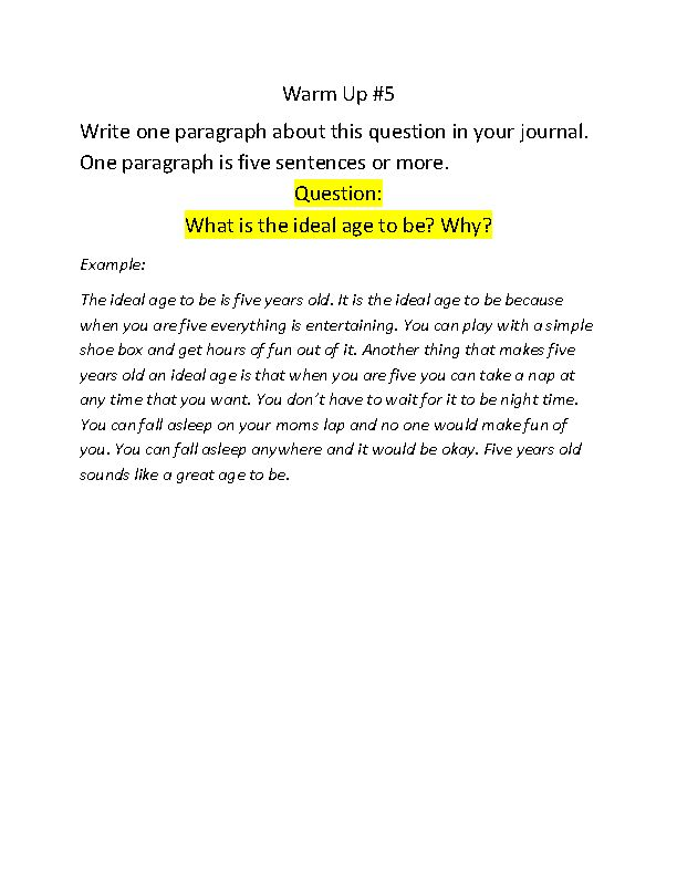 5 paragraph essay prompts 6th grade Watch ms brouhar use a unique teaching strategy to help fifth grade students  better  videos topics community  grade 5 / social studies / reading  i  would love to see a final example of one of the essays they write to see how this  whole thing goes  i teach special ed and tried using this with 4th, 5th, and 6th  grade.