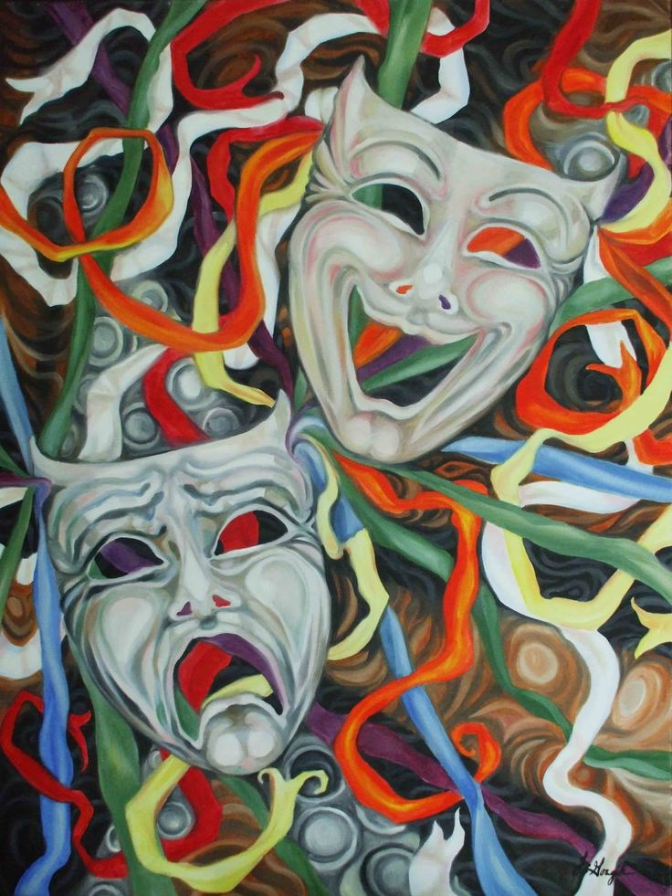 Masks ~ Tragedy/Comedy | Artsy | Pinterest | Masking, Artsy and ...