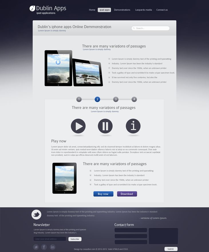 Dublin iPad Apps – Product Demo Page