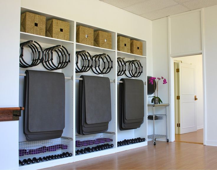 """A Boutique Studio That Sculpts Muscles: Classic Pilates"" Genius organization & assemblage."