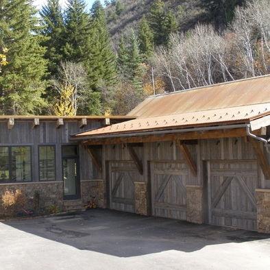 66 best rustic carport images on pinterest cottage for Rustic garage plans