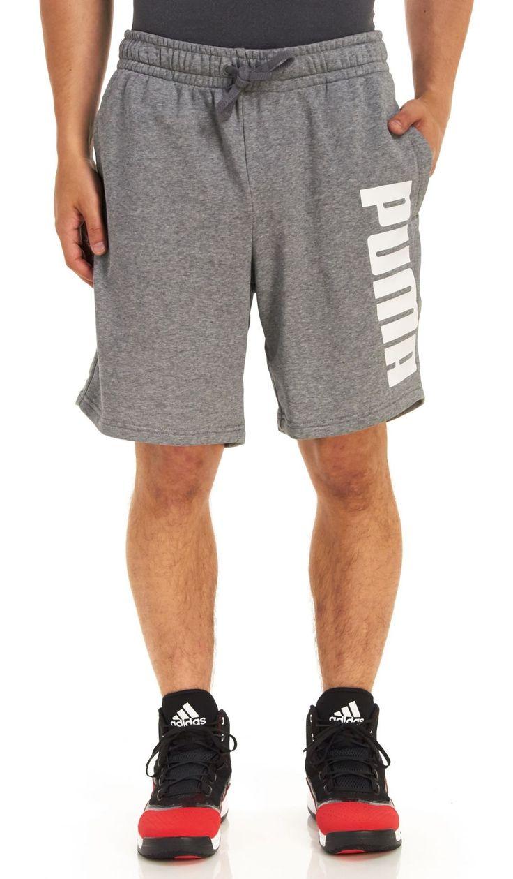 Puma Men\u0027s Fun Shorts, Medium Gray Heather, Small
