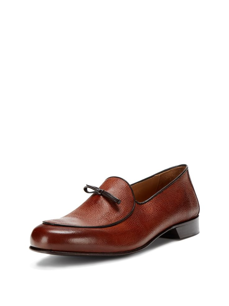 Leather Loafers. Formal enough for office use, yet it can double up as a casual saturday afternoon shoes.