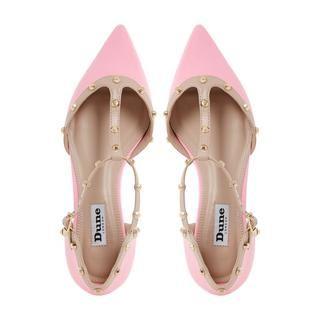 DUNE LADIES HETI - Stud Detail Pointed Flat Shoe - pink   Dune Shoes Online