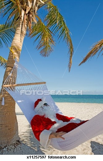 Ho, ho, ho and a bottle of rum, Santa's run off to the Caribbean.