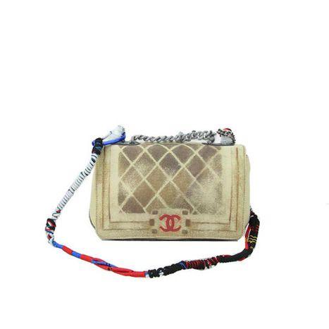 Wholesale Réplique Boy Sac Chanel Flap A92316 toile peinte Lumière Abricot - €185.35 : réplique sac a main, sac a main pas cher, sac de marque   replique sac a main chanel