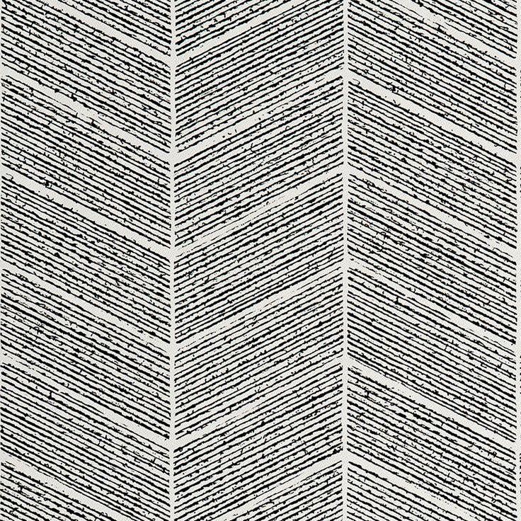 Intissé SOPHIE FERJANI TONE coloris noir - Papier Peint - 4murs
