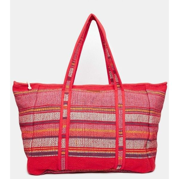Billabong Summers Tomorrow Oversized Beach Bag ($80) ❤ liked on Polyvore featuring bags, handbags, festival fuchsia, summer purses, oversized beach bag, billabong handbags, cotton purse and cotton beach bag
