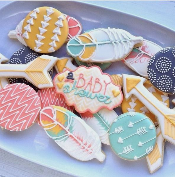 """@madrimahtani on Instagram: """"Baby shower #madriscookiekitchen #cookies #tribal…"""