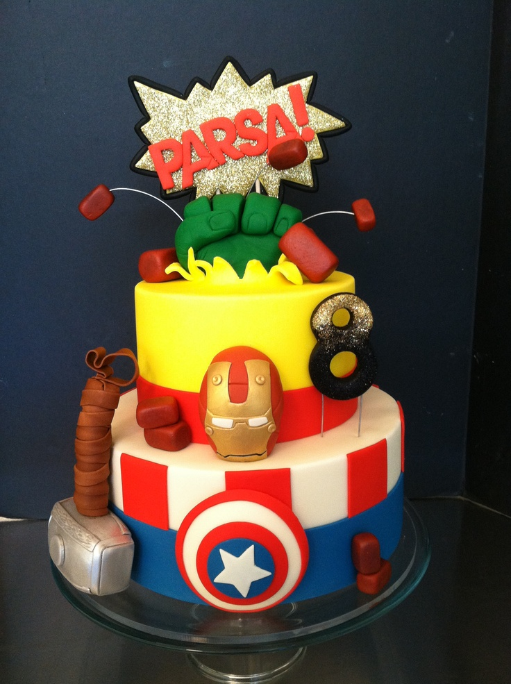 ... Cake  Pinterest  Birthday cakes, Avengers and Avengers birthday