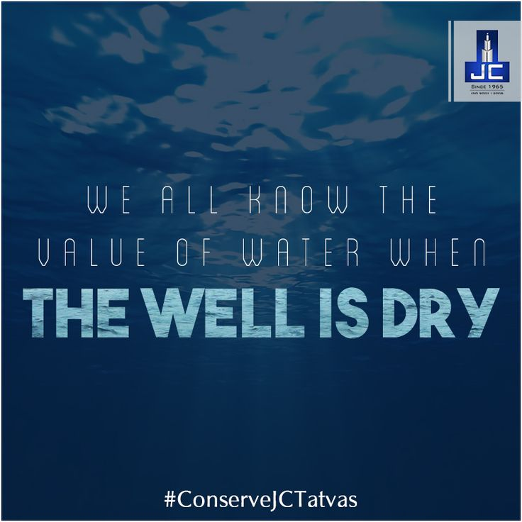 Water is universal and versatile. It's impossible for any life form to flourish without water. Conserve life, #ConserveJCTatvas for a Happy & Healthy future.