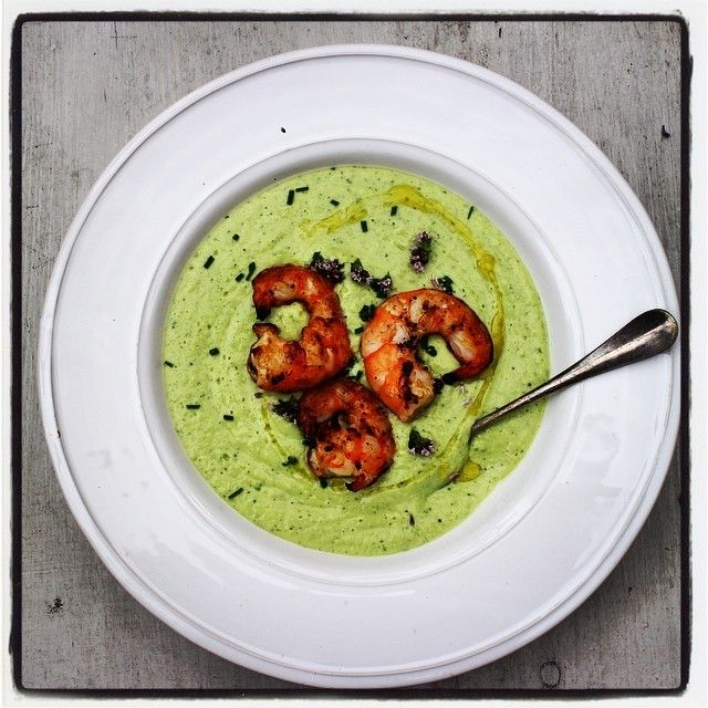 CHILLED COURGETTE AND YOGHURT SOUP WITH BARBECUED PRAWNS http://www.standard.co.uk/lifestyle/esmagazine/rachel-khoo-chilled-courgette-and-yoghurt-soup-with-barbecued-prawns-9653891.html