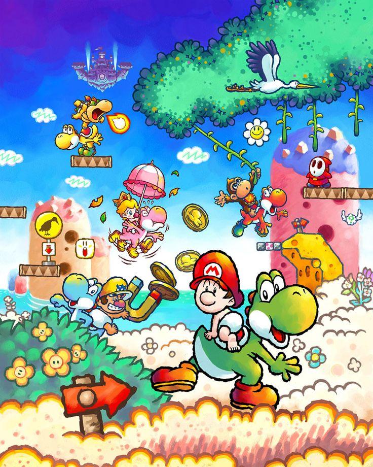 Yoshi's Island DS  Promotional Illustration