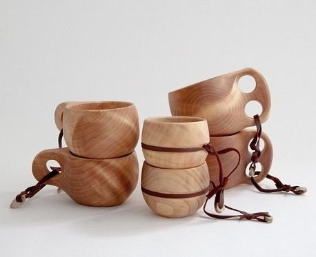 Wood cups