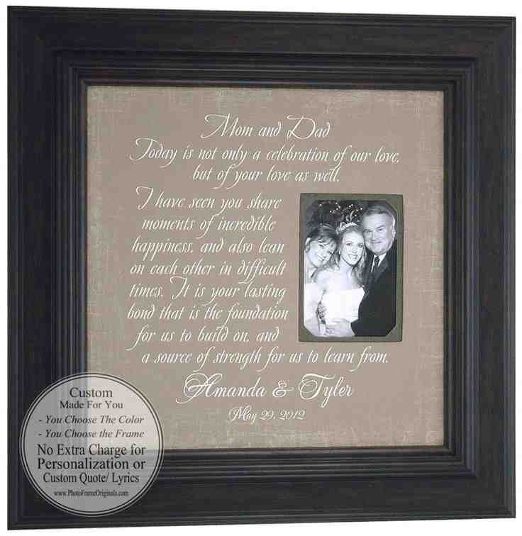 43 best wedding gifts for parents images on Pinterest   Wedding ...