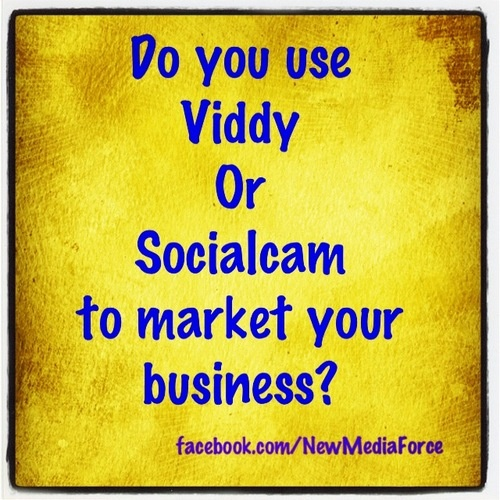 #Question of the day: Do you use #Viddy or #Socialcam to market your #business?