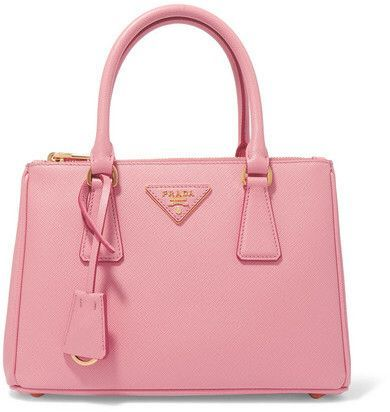Yes please! Prada - Galleria Mini Textured-leather Tote - Pink Afflink