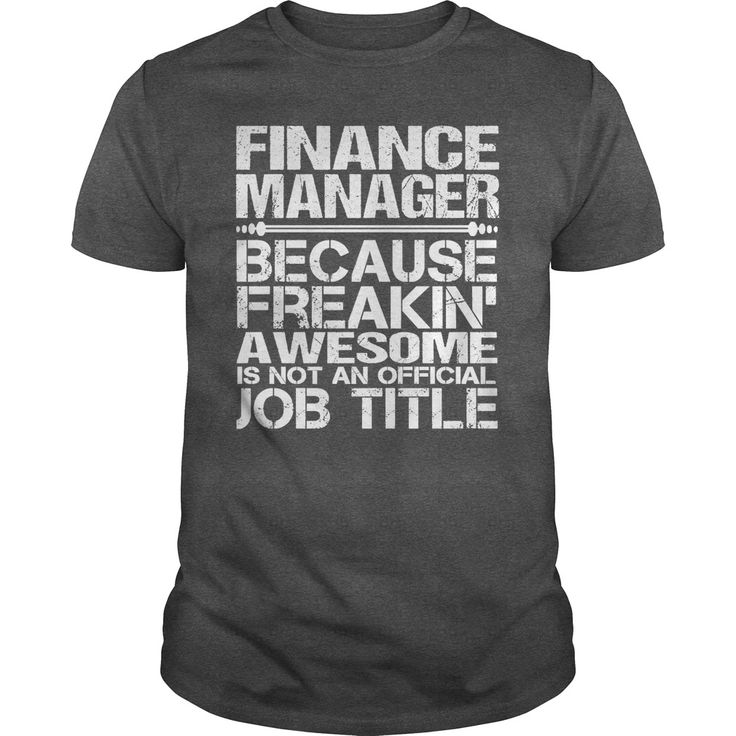 Finance manager because freakin awesome is not an official