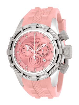 Invicta Watches Unisex Reserve Bolt Stainless Steel & Pink Watch