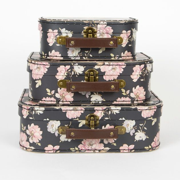 French Rose Suitcases - Set of 3. Shop now here http://www.smallthings.gr/shop/suitcases-storage/french-rose-suitcases-set-of-3/#.ViYppdXhA0M