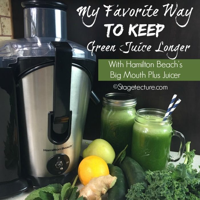 Get juicing recipes and see how I can juice less often yet preserve more juice in my @hamiltonbeach review!  #ad #juicing #recipe #review