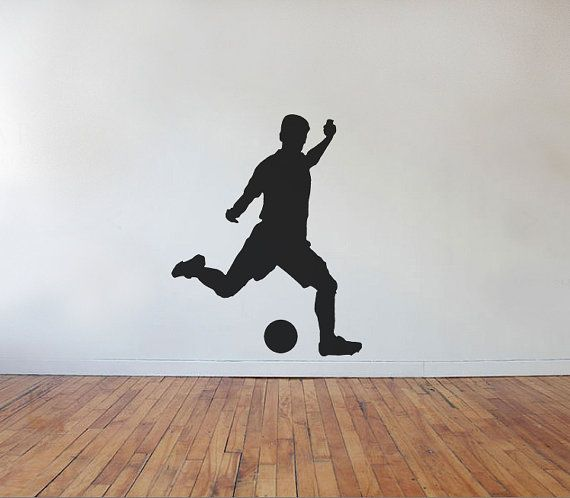 Soccer Player Kick Vinyl Wall Decal by jamesdupree on Etsy, $29.99