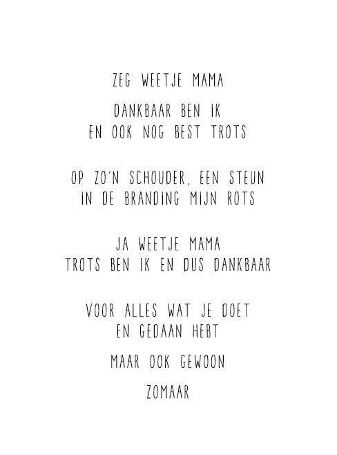 JIP kaart voor #Moederdag #gedichtje #gewoonjip www.krullenkop.nl