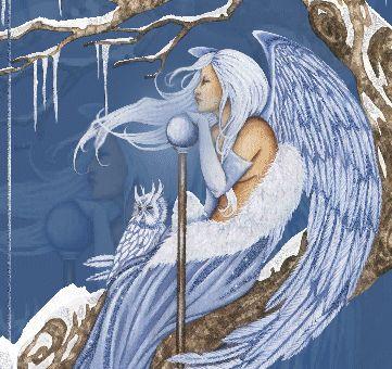 Милые феи и красивые ангелы на анимированных картинках с блестками