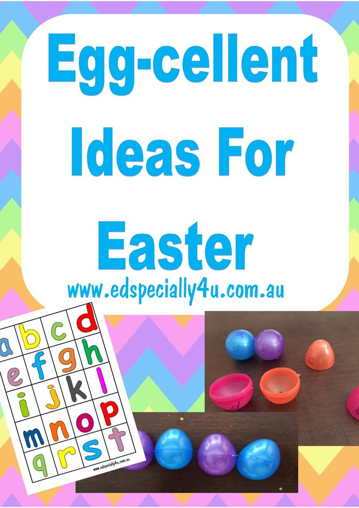 Read all about our ideas for reinforcing literacy concepts using plastic Easter eggs. Great hands on learning ideas from ED Specially 4U