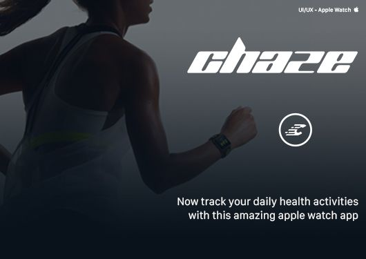 The Chaze Apple Watch concept has been designed from the ground up to be intuitive and distruptive. It helps you track how much activity, sleep and calories burned in a day or week.