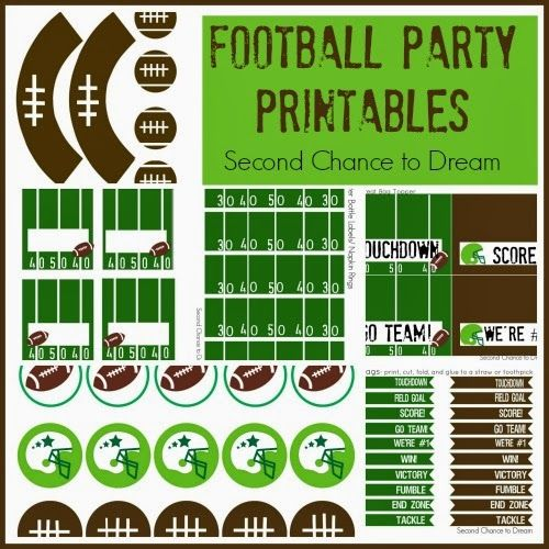 Football Fiesta…Game Day Goodies! Free printables!