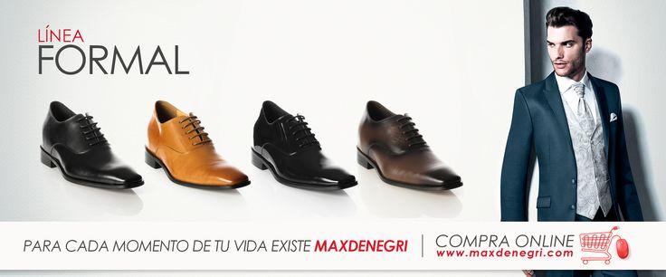 Línea Formal de zapatos de hombre con +7cm de altura, estilo, comodida y elegancia. Consíguelos en www.maxdenegri.com