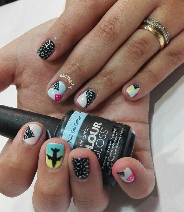 Diseño de uñas viajeras