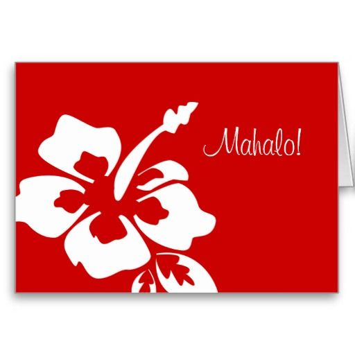 725 best thank you greeting cards images on pinterest greeting hawaiian wedding thank you cards hibiscus red m4hsunfo Images