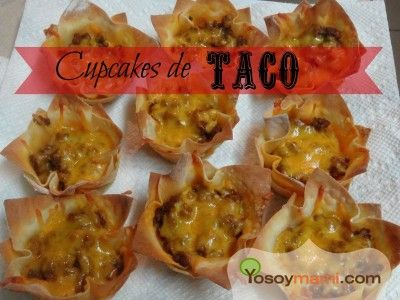 YoSoyMami en la Cocina: Cupcakes de Taco