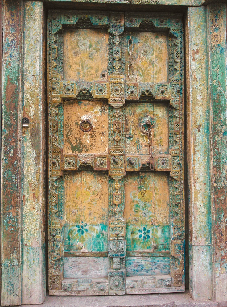 old colored door