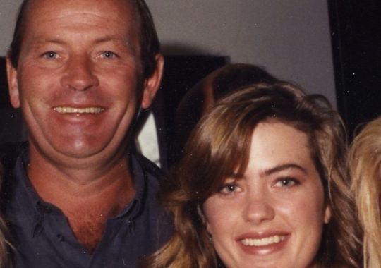 Beth Bowlen Wallace with her dad Pat Bowlen
