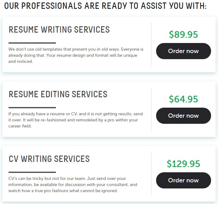 During the time of our work, we have already helped people from - resume editing