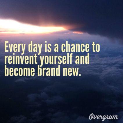Reinventing oneself