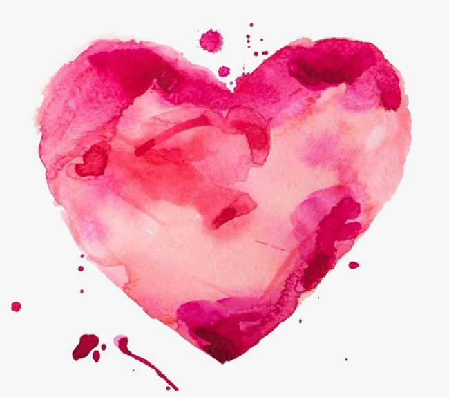 Fig Watercolor Painted Heart Shaped Material Watercolor Clipart