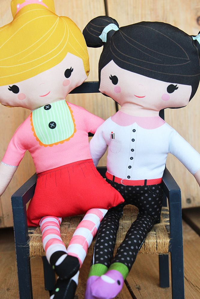 DIY: Customize your own Cut & Sew Doll via Spoonflower