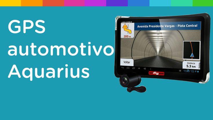 """GPS Automotivo Aquarius Guia 4 Rodas Tela 7"""" TV Digital 1.403 Cidades Ma..."""